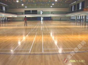 杭州室内运动木地板篮球场施工|杭州运动木地板材料