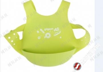 防水立体宝宝大号可调节硅胶围嘴 婴儿童围兜 口水巾吃饭食饭兜