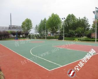 青岛部队篮球场--部队网球场塑胶