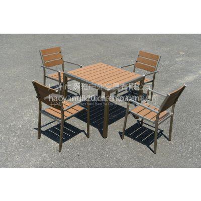 新款木塑椅 户外木塑桌椅 塑木椅图片价格尺寸 塑木家具批发厂家