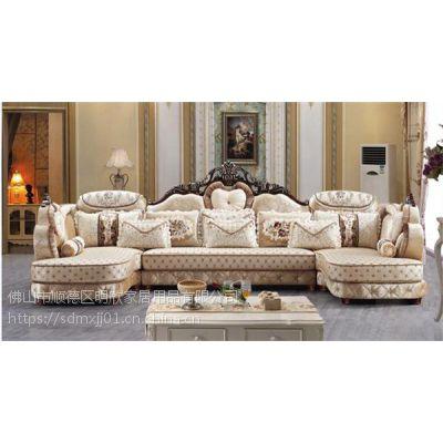 酷可斯欧式沙发批发 欧式组合沙发图片 坚固实木架构 高密度海棉