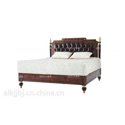 双人床 单人床 亚历山大实木大床 卧室床