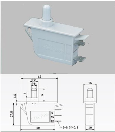 余姚市临海电器配件厂现专业生产各类冰箱附件:门灯开关,e14灯座等
