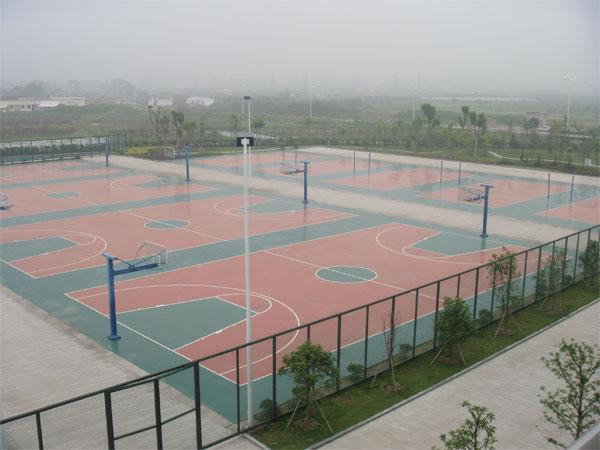 承建青岛塑胶篮球场