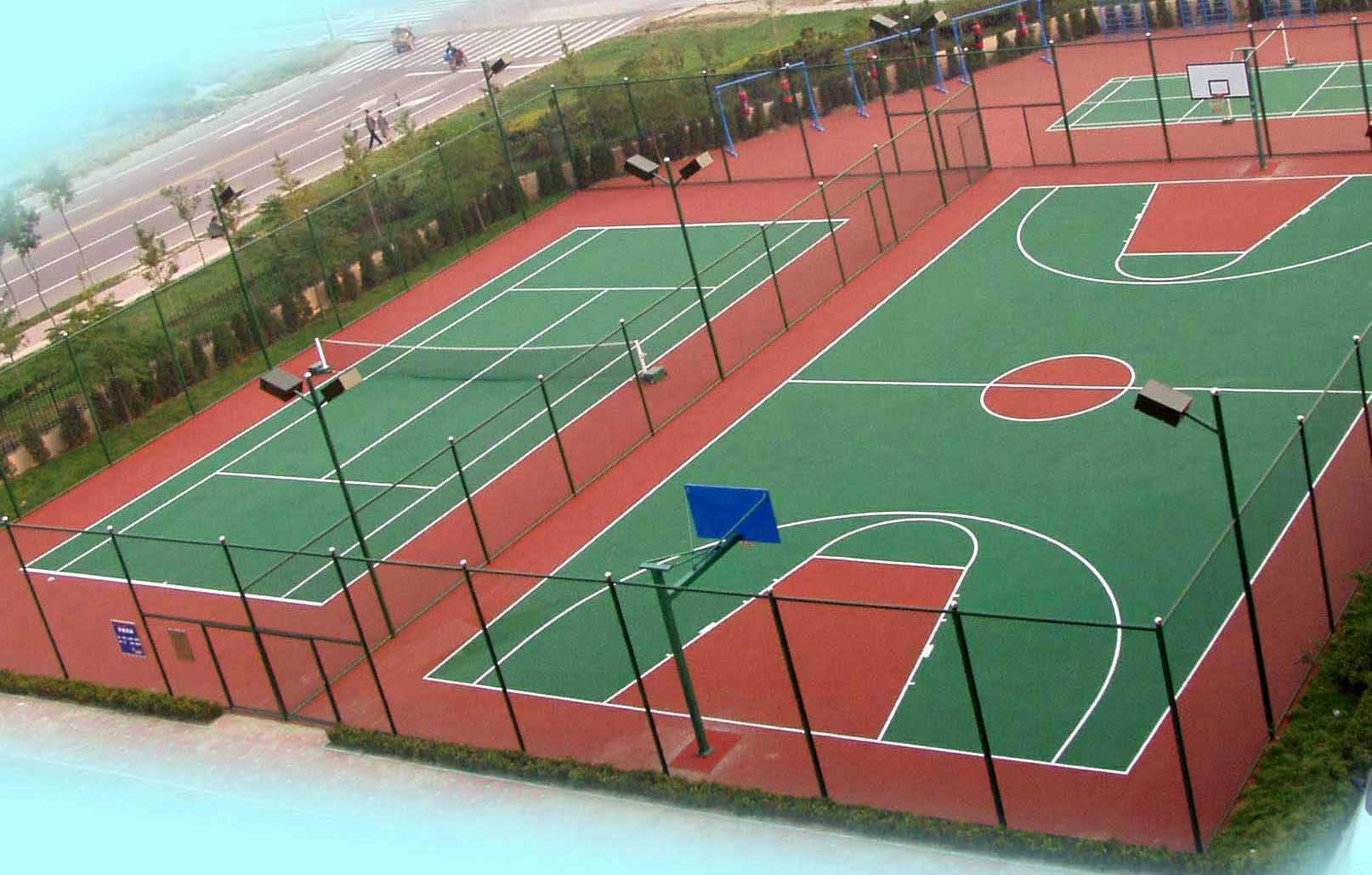 篮球场 - [塑胶地板,塑胶制品]