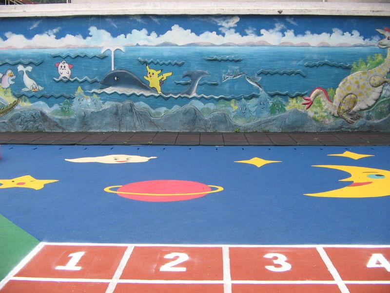 供应幼儿园塑胶地垫.塑胶彩绘地板