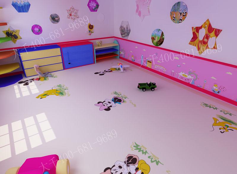 大千彩绘提供幼儿园地板图片