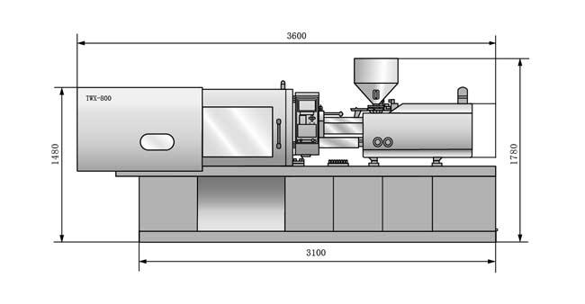 6 拉杆特殊工艺处理,强度可靠 7 低压模具保护装置 8 自动调模功能 9