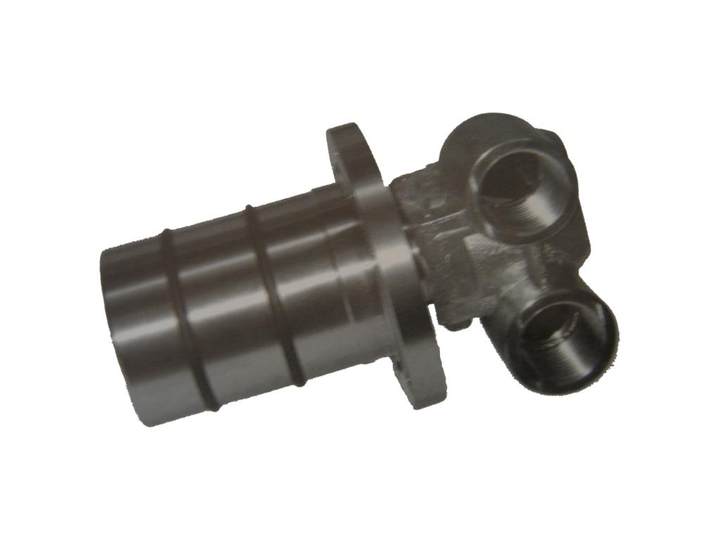 """M系列旋转接头具有特殊的密封设计以及经过表面研磨、硬化和抛光的转子,可在低摩擦磨损和高压力低转速下长时间运转。此款接头也可在长时间保持无运转状态而不会咬死。此外,内部含有一个防转销防止端盖旋转。为避免泄漏而造成污染,在两个通路内仅可使用同一种流体。应避免在压力极具波动的情况下运转。 适用介质:水、空气、真空和液压油 接口尺寸:3/8"""" 工作压力、工作温度及转速: - 介质为水、空气:10 bar (145 PSI),120°C (245°F),200 (RPM) - 介质为真空:6."""