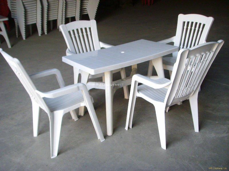 塑料/可印logo咖啡馆塑料桌椅