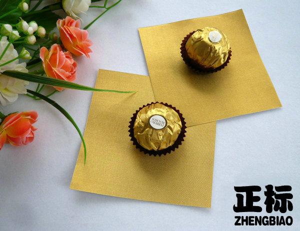 现货供应手工巧克力锡纸/锡箔纸/金色铝箔纸
