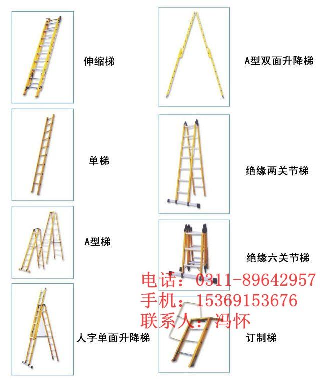 绝缘单梯 1、 每次使用梯子前,必须仔细检查梯子表面、零配件、绳子等是否存在裂纹、严重的磨损及影响安全的损伤。   2、 使用梯子时应选择坚硬、平整的地面,以防止侧歪发生危险。   3、 检查所有梯脚是否与地面接触良好,以防打滑。   4、 如果梯子使用高度超过5米,请务必在梯子中上部设立F8以上拉线。   5、 头昏、眼花、酒后或身体不适严禁使用梯子。   6、 在门、窗四周工作时,必须先将门窗固定,以免开、关门、窗撞到梯子。   7、 大风条件下使用梯子要格外小心或尽量不使用。   8、 正确使用梯子