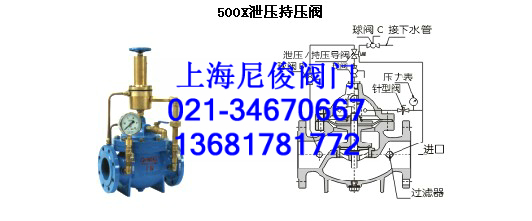 500x泄压/持压阀主要用于消防或其他供水系统中,以防止系统超压或维持图片