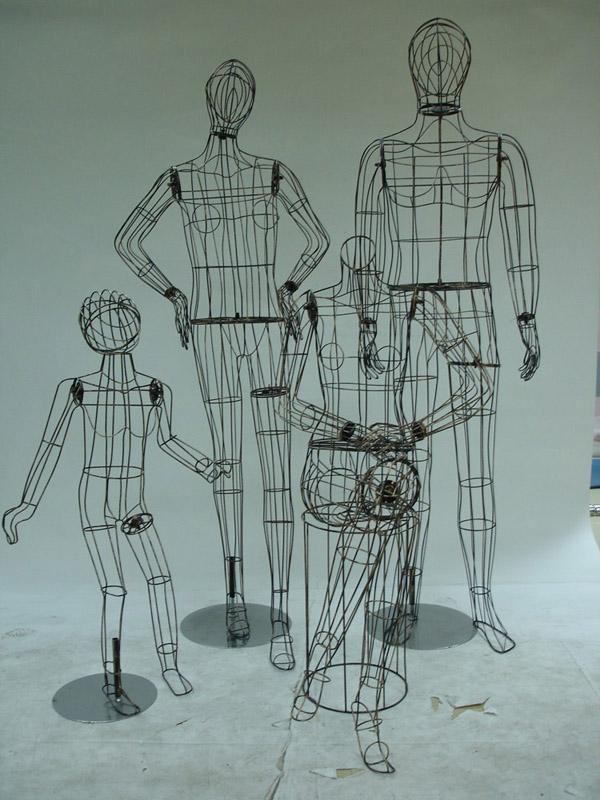 儿童铁线模特,铁线橱窗模特,铁线小孩服装展示模特