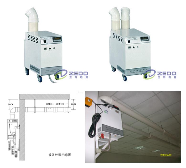 正岛zs系列工业用加湿器选型参考对照表(单位:m3) 产品型号 开关控制图片