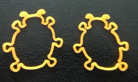 可爱动物外形硅胶橡皮筋