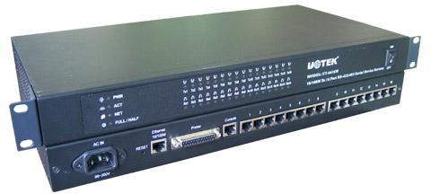 tcp/ip到十六口rs-422/485串口服务器ut