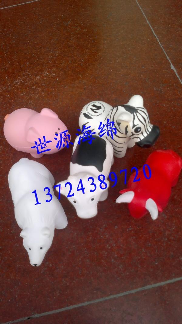 各种造型的pu动物模型玩具生产加工