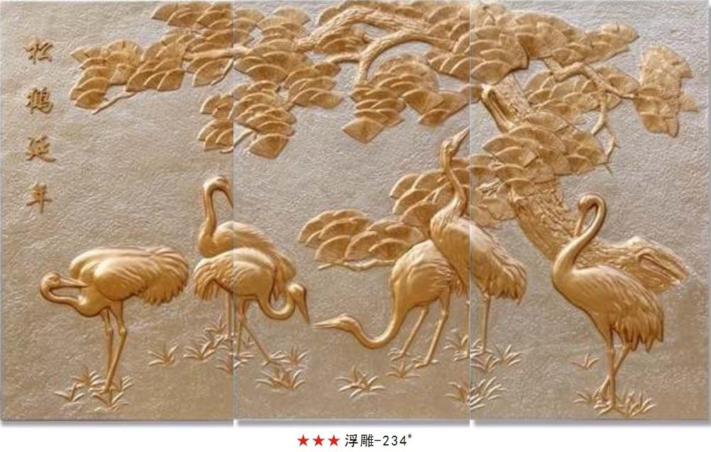木板浮雕动物图片