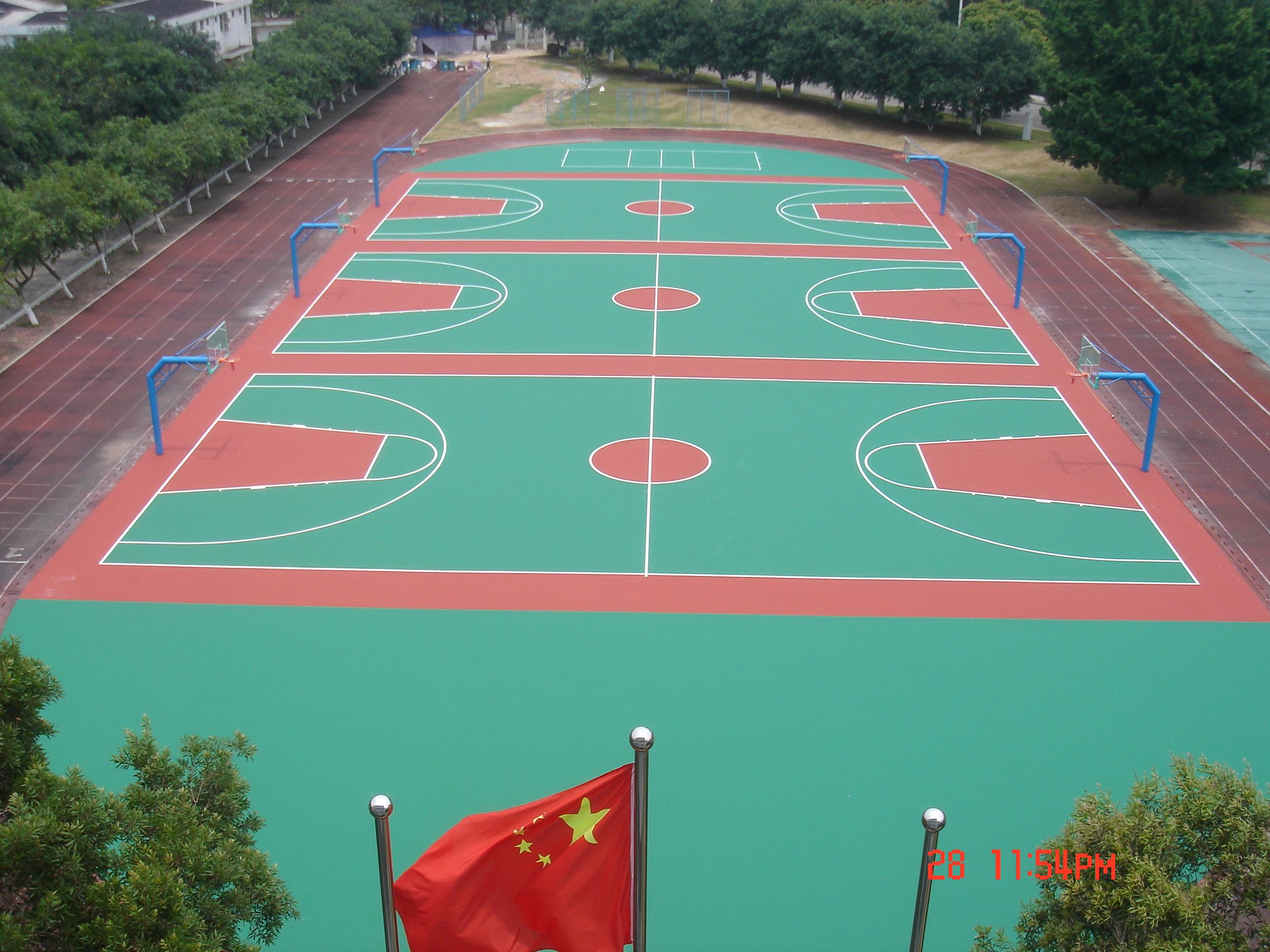 宁德市塑胶篮球场厂家-宁德硅pu篮球场工程公司-机电