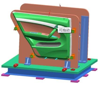 汽车门板模具设计新视觉模具检测汽车门板模具设计好后,模具设计审
