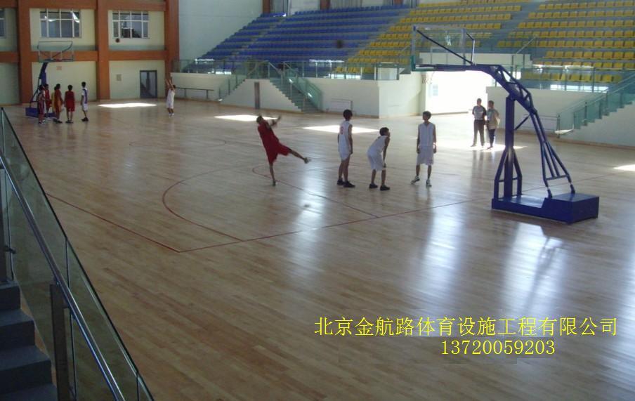 室内篮球场 - [塑胶地板