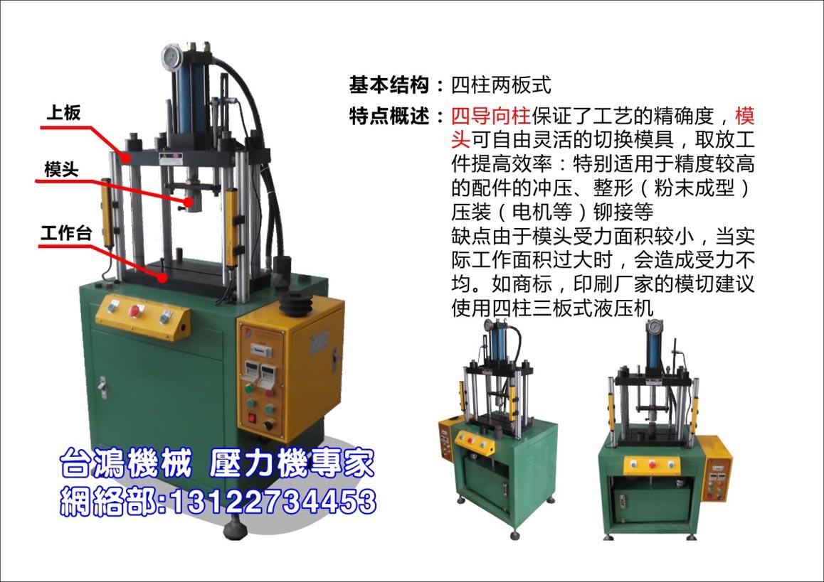 设备结构简述 : 本机器为落地式c型单柱液压机