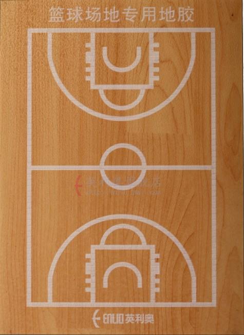 英利奥枫木纹塑胶地板天津室内外篮球场地运动地板