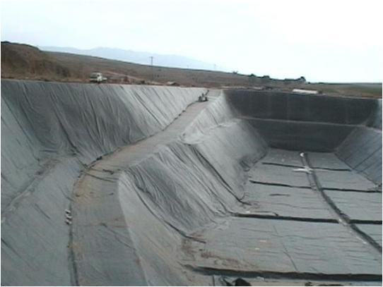 HDPE土工膜施工现场