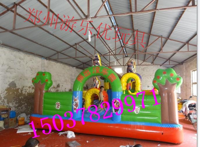 儿童蹦蹦床 小型充气城堡乐园 郑州玩具厂家直销1