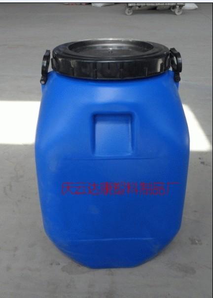 化工厂_50L大口方形塑料桶50公斤蓝色食品桶50L广口化工桶-山东庆云达康 ...