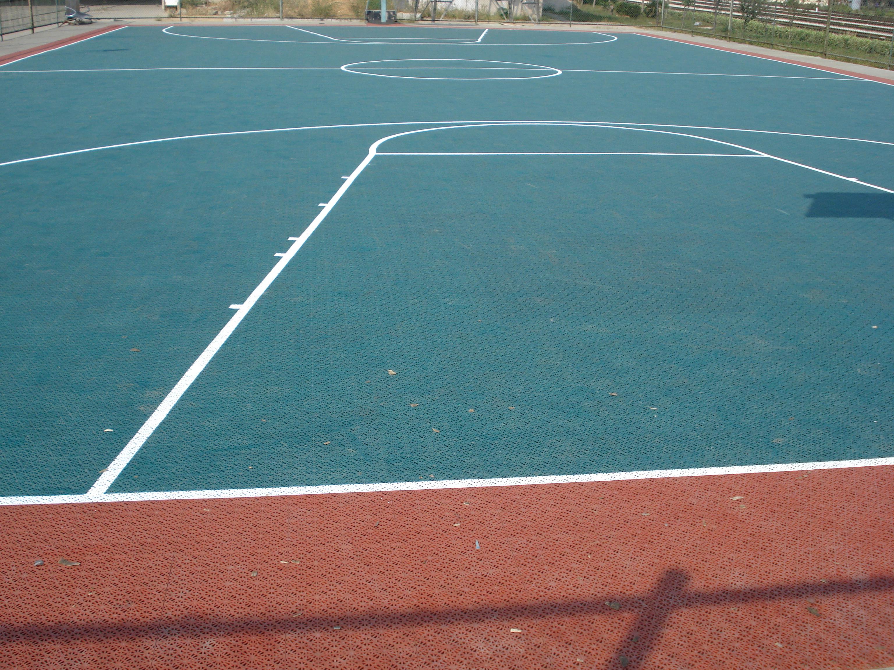 莱州室外塑料篮球场地板-排球场地板价格-青岛奥润佳