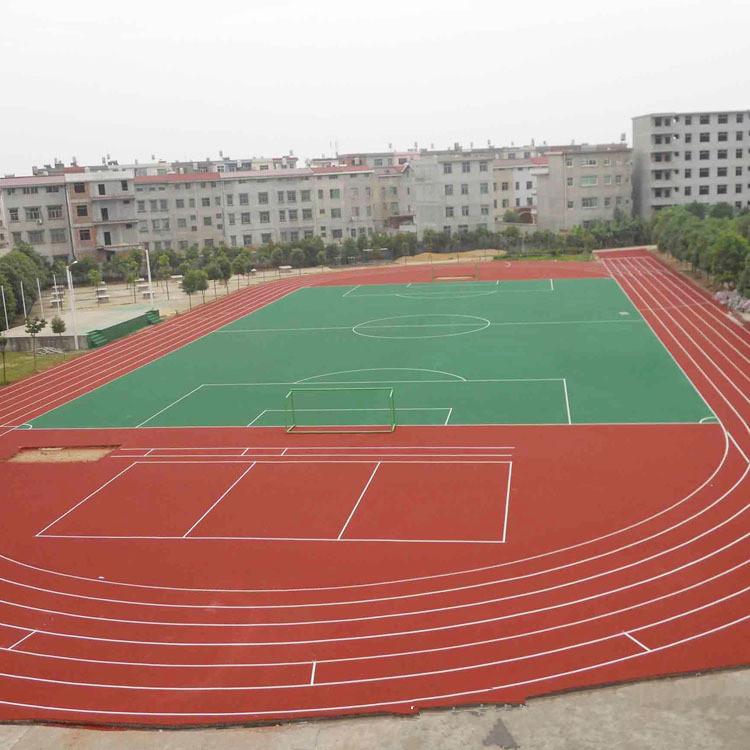 北京塑胶跑道彩色颗粒,epdm塑胶操场施工