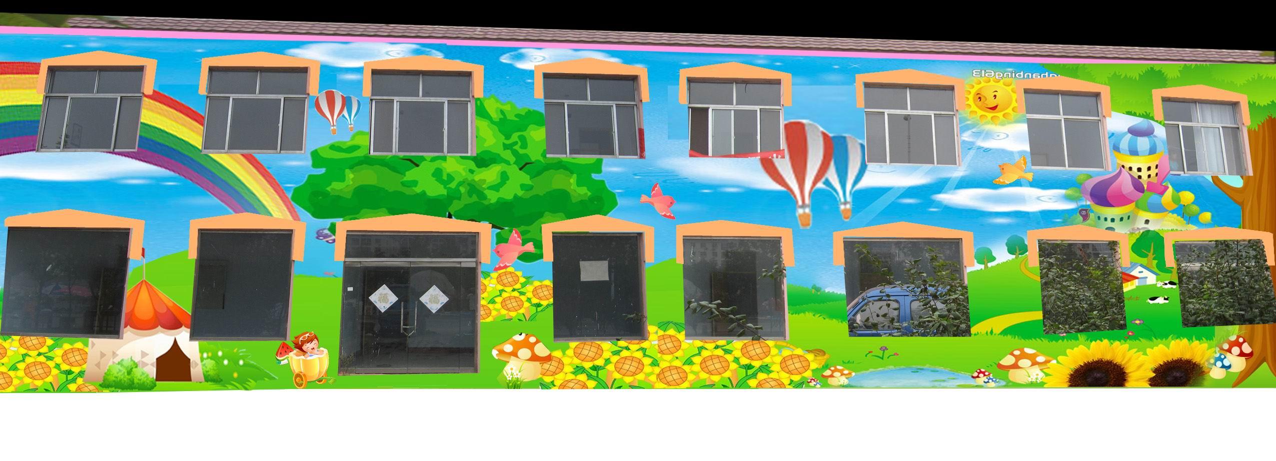 德州教室手绘壁画-幼儿园手工喷绘