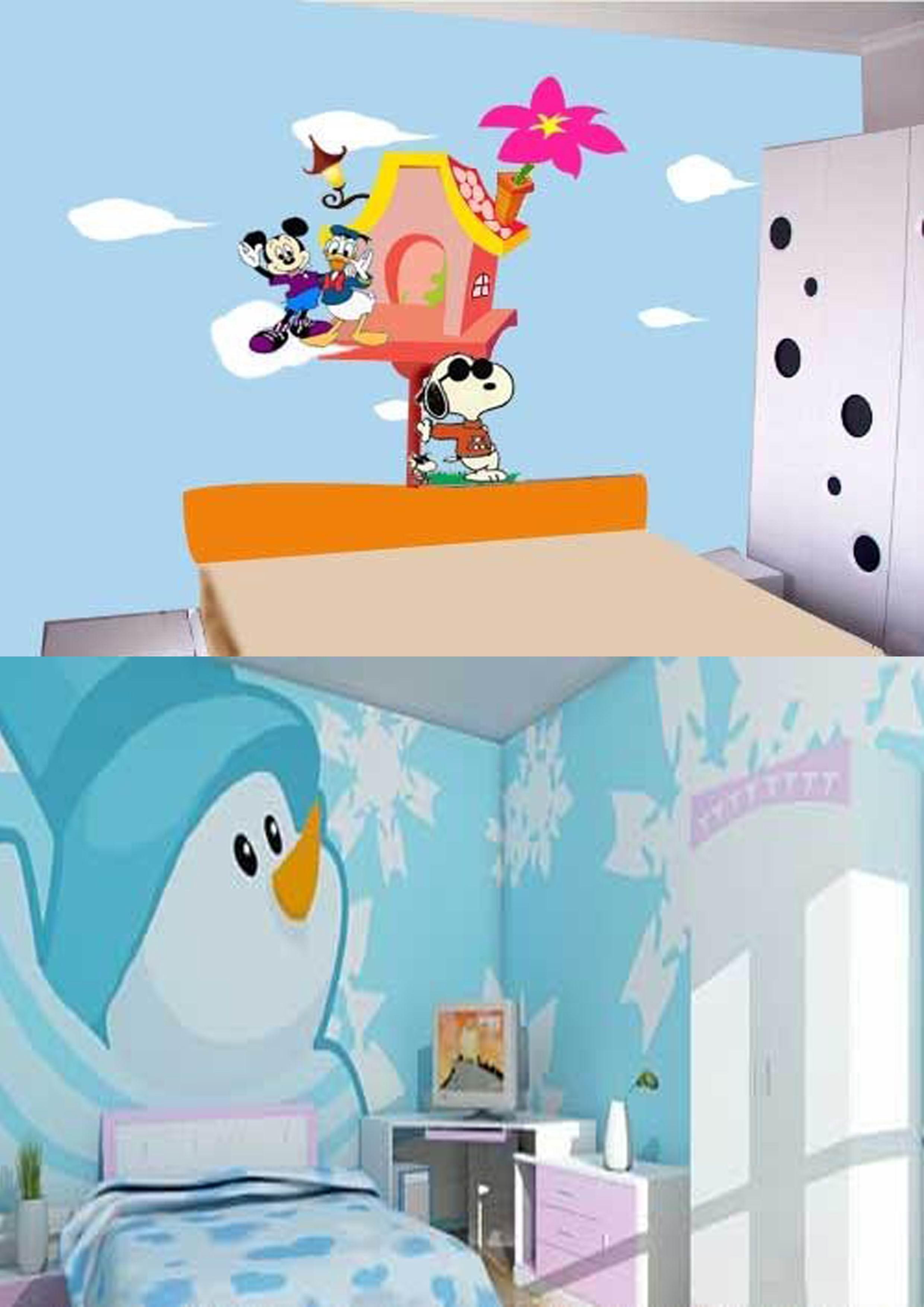 青岛周边教室手绘壁画-幼儿园手工喷绘