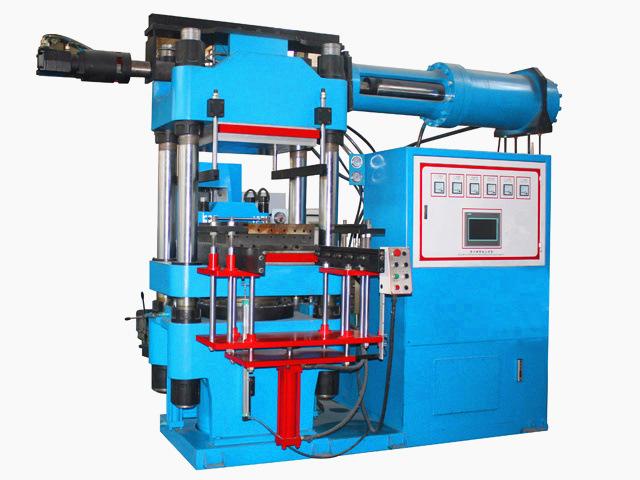 青岛鑫城电脑控制立式射出橡胶2RT开模油压成型机