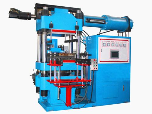 电脑控制立式射出橡胶前顶出2、3RT开模油压成型机