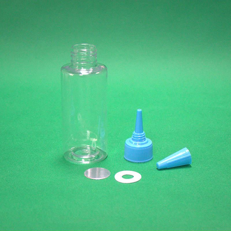方之圆供应透明尖嘴圆瓶100ml塑料瓶子液体瓶