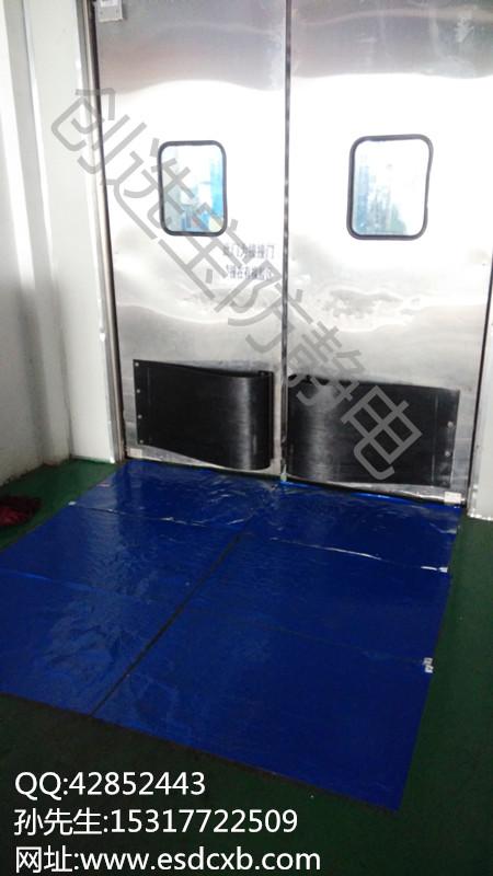 电子行业门口除尘创选宝防静电粘尘垫具有非常好的效果
