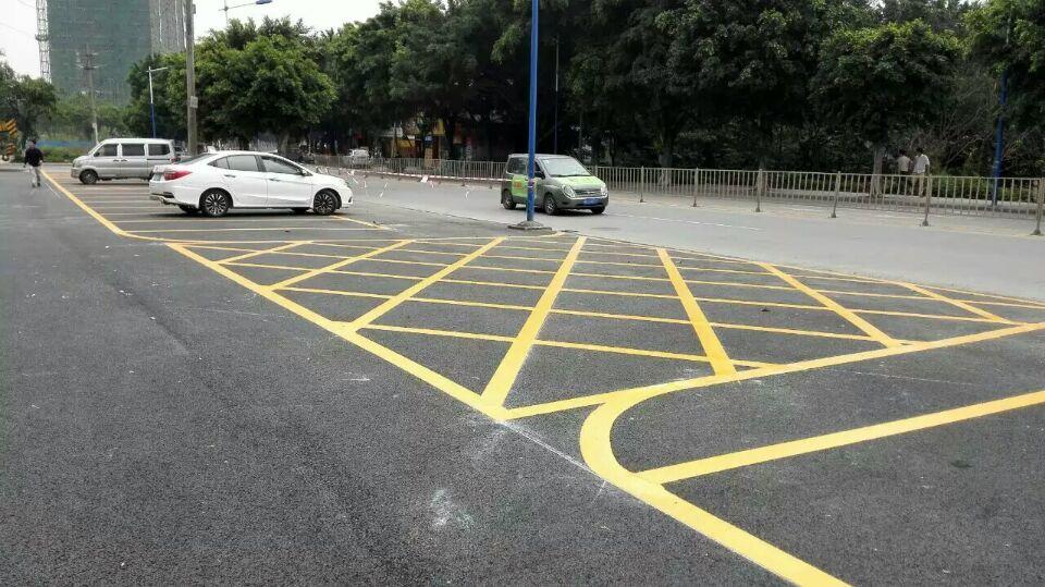 地下车库划线、马路划线漆、停车位标线、停车场设施