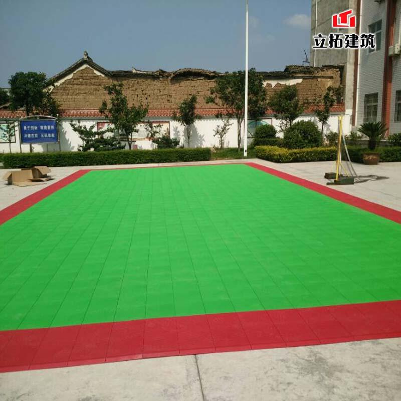 南充绵阳重庆学校运动场篮球场悬浮拼装地板羽毛球拼装地面