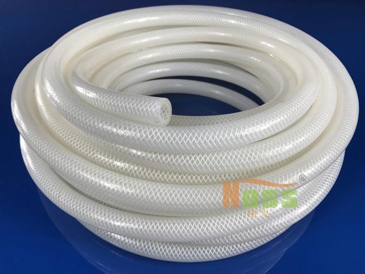 食品级硅胶软管 食品级硅胶网纹管 食品级编织硅胶管