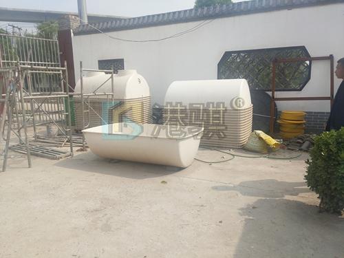 【农村家用玻璃钢化粪桶】农村三格化粪桶的安装-港骐