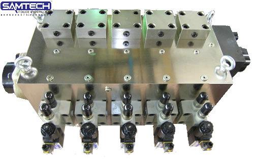 液压油路块 电磁换向阀阀座 溢流阀组螺纹插装阀块油路集成块