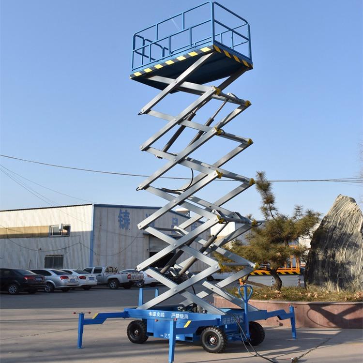 鼎森移动剪叉式升降机升降平台电动液压车载小型高空作业梯维修登高车图片