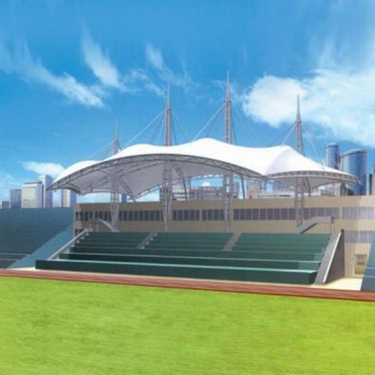 膜结构排球棚膜结构体育看台网球场篮球场膜结华科公选景观v排球怎么样图片