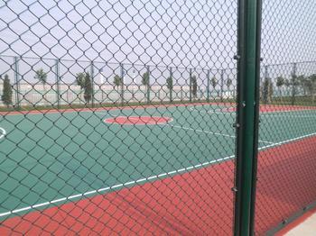 诸暨塑胶网球场 排球场 PVC羽毛球场 硅pu篮球场划线施工