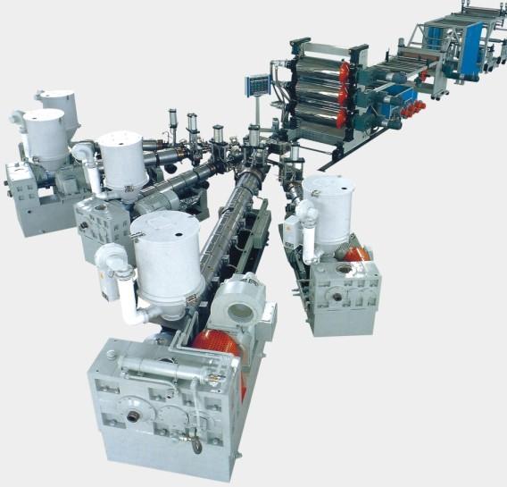 塑料片材机,PP、PE片材机,PE、PS、ABS板材挤出机组