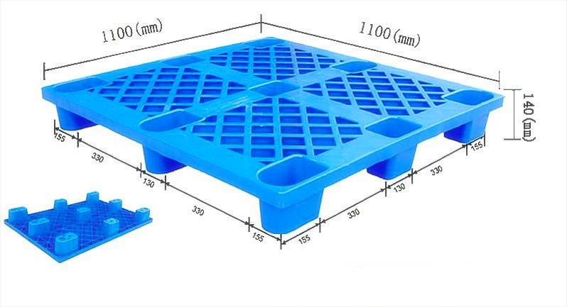 塑料环卫桶(胶州塑料托盘厂家,动载0.5T,静载2T)青岛即墨塑料托盘直销