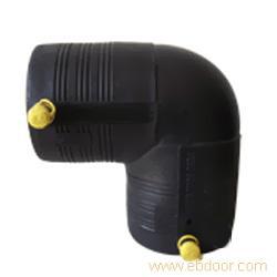 供应淄博规格最全PE给水管件90°弯头